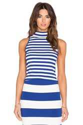 Milly High Neck Tank Blue