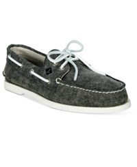 Sperry Men's White Cap Canvas Boat Shoes Men's Shoes Gray