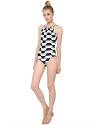 Lenny Niemeyer Printed Lycra One Piece Bathing Suit