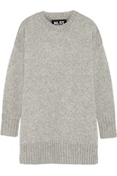 Nlst Knitted Sweater Light Gray