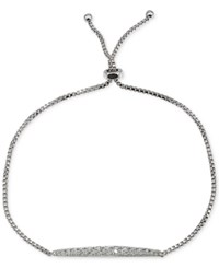 Giani Bernini Cubic Zirconia Thin Bar Adjustable Slider Bracelet In Sterling Silver Only At Macy's