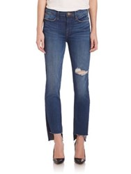 Frame Le High Straight Raw Stagger Jeans Charoltte