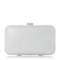 Linea Berlon Box Frame Clutch Bag Silver