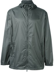 Jil Sander 'Garda' Hooded Raincoat Green
