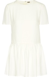 Adam By Adam Lippes Crepe Peplum Top