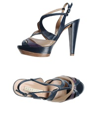 Pura Lopez Sandals Dark Blue