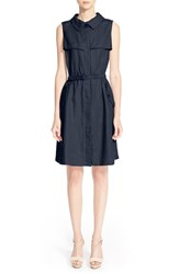 Women's Armani Collezioni Belted Linen Shirtdress