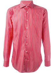 Etro Pinstriped Button Down Shirt Red