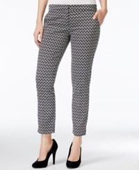 Xoxo Juniors' Printed Ankle Pants Black Ivory