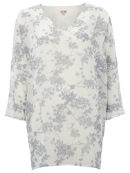 Phase Eight Blossom Tunic Ivory Silver