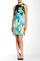 Maggy London Printed Sheath Dress Multi