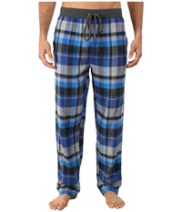 Kenneth Cole Reaction Flannel Sleep Pants Blue Madison Plaid Men's Underwear