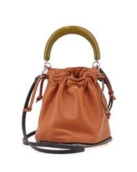 Small Expandable Zip Satchel Bag Marni Brown Multi