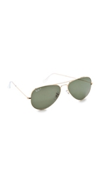 Ray Ban Polarized Aviator Sunglasses Gold Green Polar