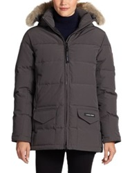 Canada Goose Fur Trimmed Down Filled Solaris Puffer Jacket Black