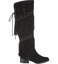 Carvela Whip Knee High Boots Black