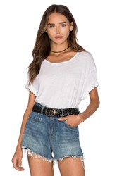 James Perse Linen Jersey Relaxed Tee White