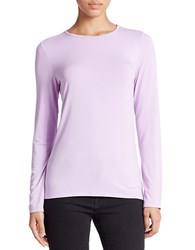 Lord And Taylor Plus Crewneck Tee Lavender