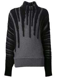 Viktor And Rolf Dripping Detail Sweater Black