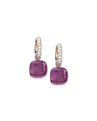 Nudo Amethyst Diamond Drop Earrings Pomellato