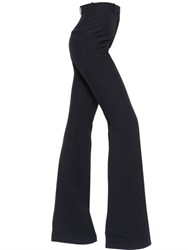 Alexander Mcqueen Bootcut High Waisted Leaf Crepe Pants