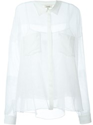 Isa Arfen Striped See Through Shirt White