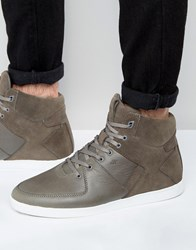 Boxfresh Camberwell Hi Top Trainers Grey