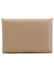 Hermes Vintage Foldover Business Card Pouch Grey