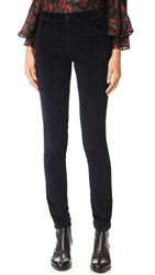 James Jeans Twiggy Luxe Velveteen Skinny Pants Black Navy