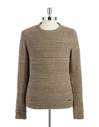 William Rast Crew Neck Knit Sweater Beige