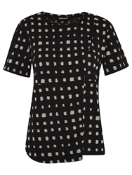 Whistles Double Layer Spot Top Black