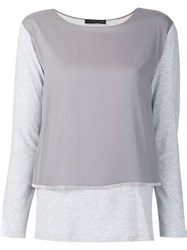 Fabiana Filippi Layered Longsleeved T Shirt Grey