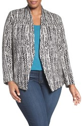 Nic Zoe Plus Size Women's 'On The Line' Knit Jacket