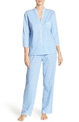 Women's Midnight By Carole Hochman Long Sleeve Cotton Pajamas