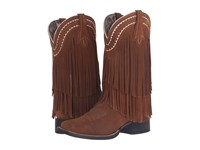 Ariat Fringe Wide Square Toe Powder Brown Cowboy Boots