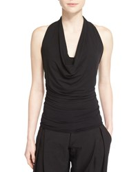 Urban Zen Sleeveless Stretch Knit Cowl Neck Top Black