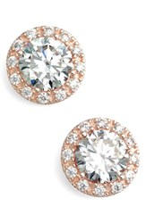 Women's Nordstrom Precious Metal Plated 2.64Ct Tw Cubic Zirconia Square Stud Earrings