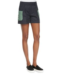 Band Of Outsiders Classic Cuffed Utility Shorts Classic Navy