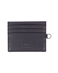 Armani Collezioni Navy Grained Leather Card Wallet Blue