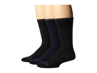 Wigwam Byron 3 Pair Pack Navy Black Black Men's Crew Cut Socks Shoes Blue