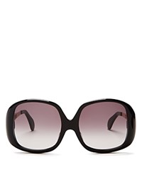 Wildfox Couture Liz Oversized Square Sunglasses 59Mm Black Gray Gradient
