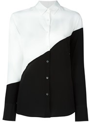 Paul Smith Ps By Colour Block Button Down Shirt White