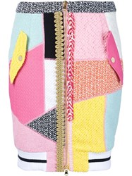 Moschino Patchwork Skirt Multicolour