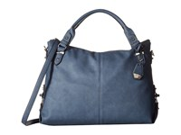 Jessica Simpson Mara Crossbody Tote Indigo Satchel Handbags Blue
