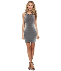 Bcbgeneration Hourglass Seamless Dress White Black Women's Dress