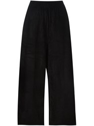 Boboutic Mid Rise Loose Fit Cropped Trousers Black
