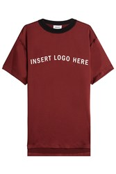 Dkny Lettered T Shirt Red