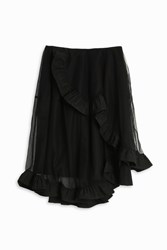 Simone Rocha Broacde Tulle Skirt Black