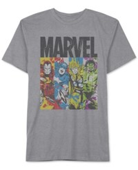 Jem Men's Big And Tall Marvel Avengers Panels Graphic Print T Shirt Heather Grey