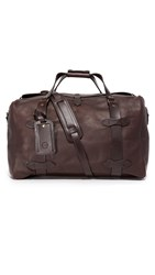 Filson Weatherproof Leather Medium Duffel Bag Sierra Brown